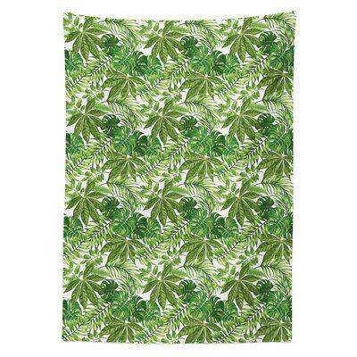 East Urban Home Palm Leaf Tablecloth