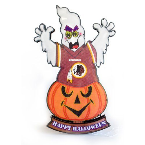 Washington Redskins Ghost Light-Up Lawn Stake by Fans With Pride. $34.95. A unique Halloween decoration. 20 inches tall. Features your favorite team's logo and colors. Light the way for trick-or-treaters this Halloween with one of these ghost lawn stakes. Each ghost lawn stake is outfitted with official team logos and colors.
