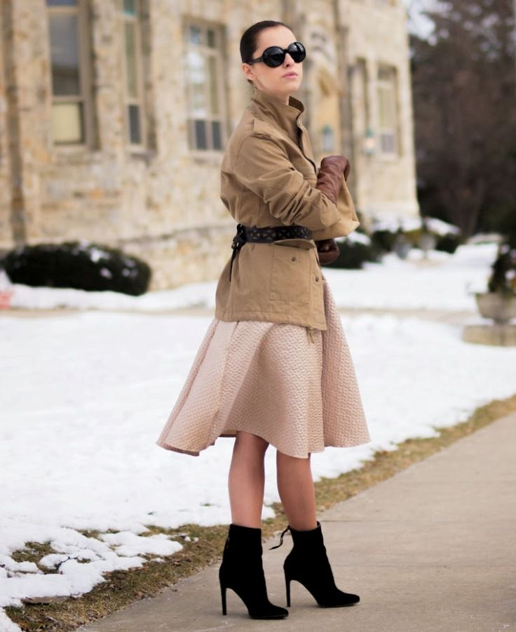 dressy winter outfit with boots