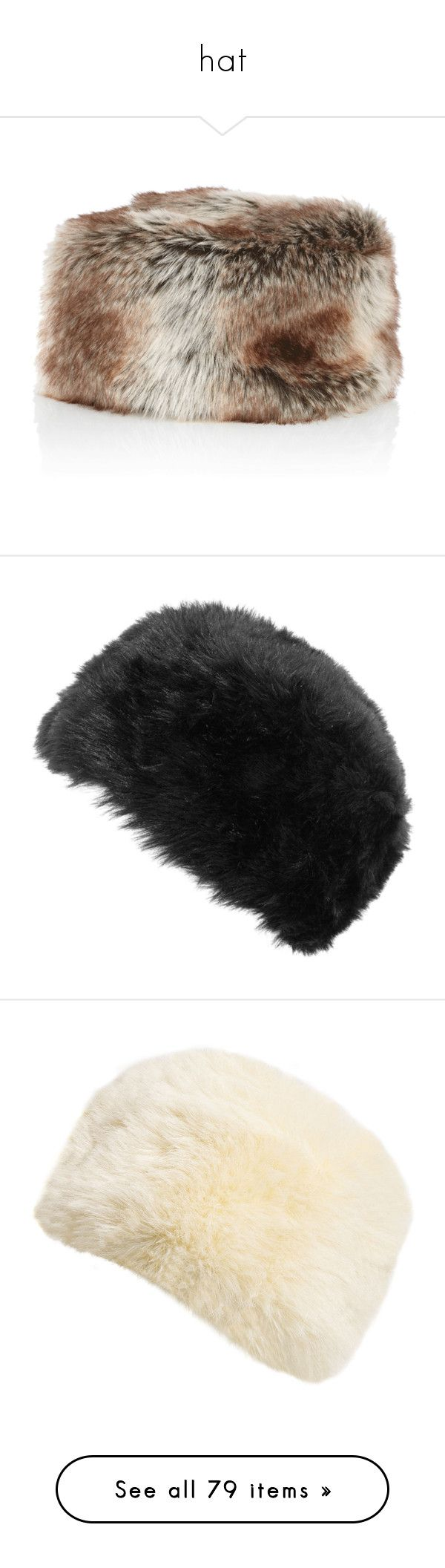 """hat"" by joycebicht ❤ liked on Polyvore featuring accessories, hats, faux-fur hat, fake fur hats, rabbit hat, rabbit fur hat, faux fur hat, fur, headwear and women"