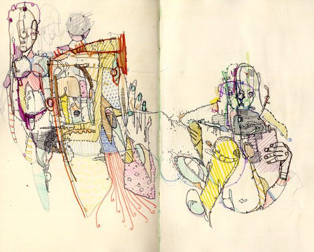 textile stitch sketchbook Lots to process, interesting use of space