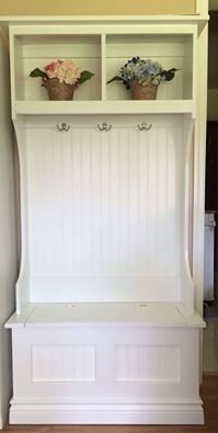 New White Hall Tree with Storage Bench