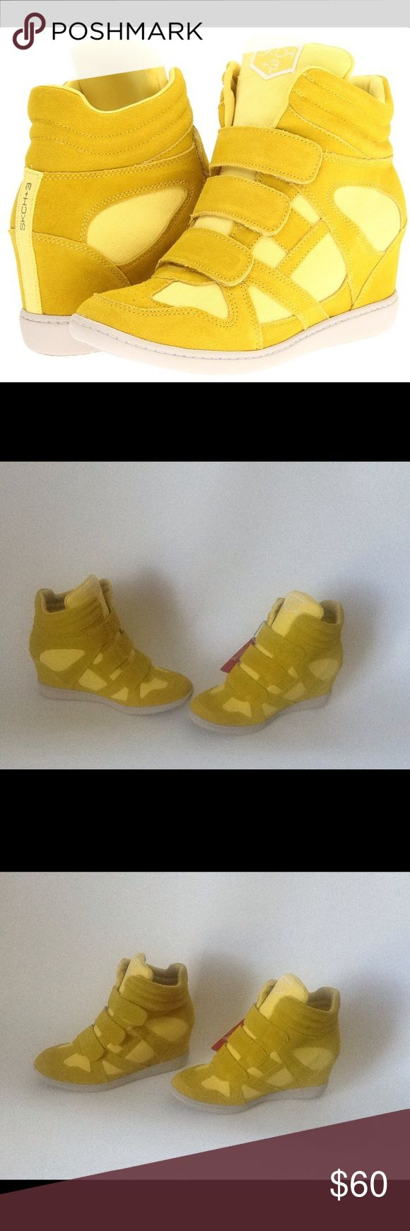 Skechers Yellow Raise The Bar Wedge Sneakers These shoes are New and have Never been Worn!! They don't come with a Box!! Skechers Shoes Sneakers