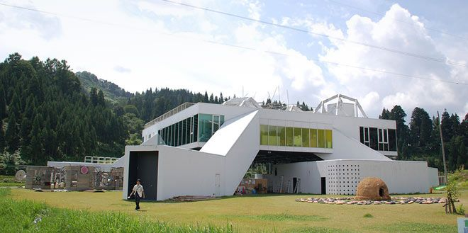 NO BUTAI Snow-Land Agrarian Culture Center, Matsudai by MVRDV