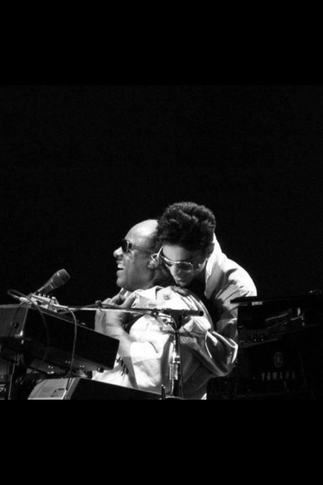 Prince and Stevie Wonder. Two kings...