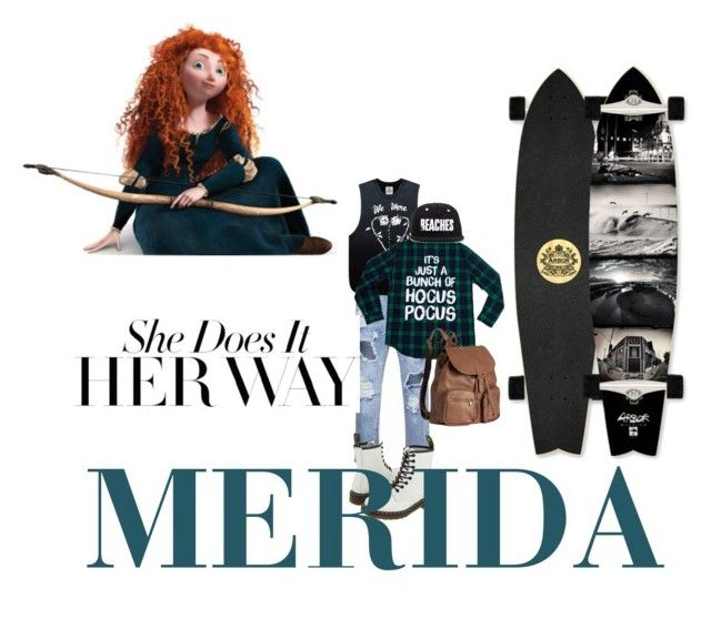 """""""Disney princess: MERIDA"""" by annie-john on Polyvore featuring UNIF, Dr. Martens, Merida and H&M"""