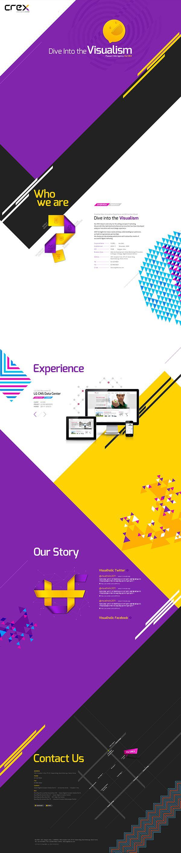 theCREX Website Design by the CREX, via Behance