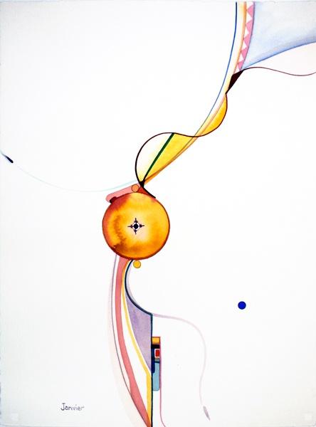 """One Blue Spot"" by Alex Janvier Aboriginal visual artist l The Official Website"