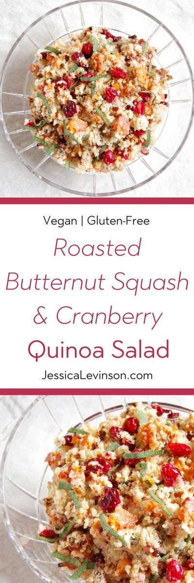 Add a burst of color and flavor to the holiday table with this nutritious and delicious Roasted Butternut Squash and Cranberry Quinoa Salad. Get the vegan and gluten-free recipe at Small Bites by Jessica.