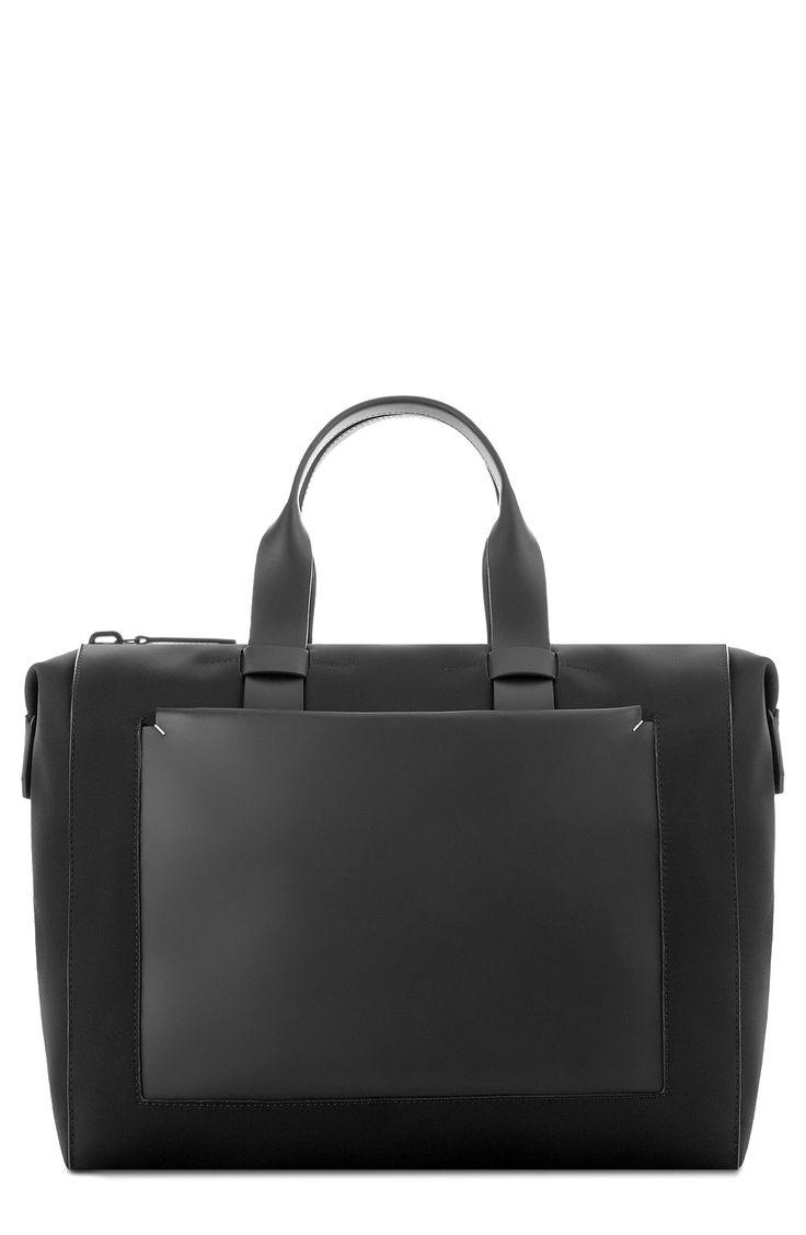 Troubadour Nylon & Leather Duffel Bag