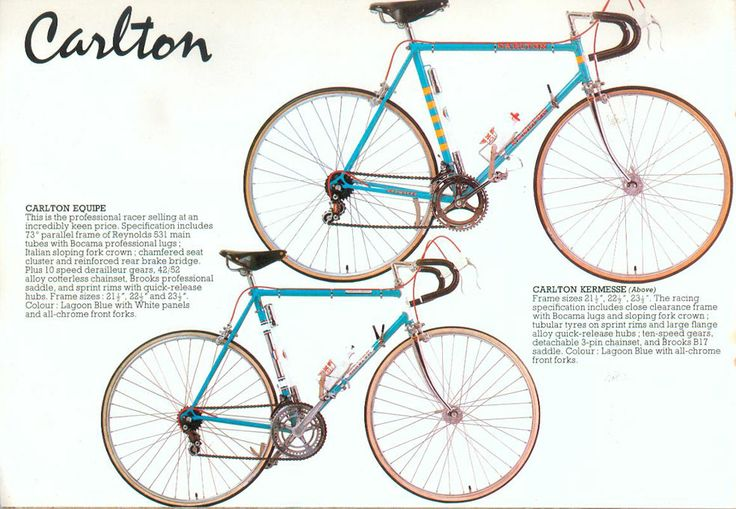 Carlton bicycles from the 1970s - made in Worksop, England