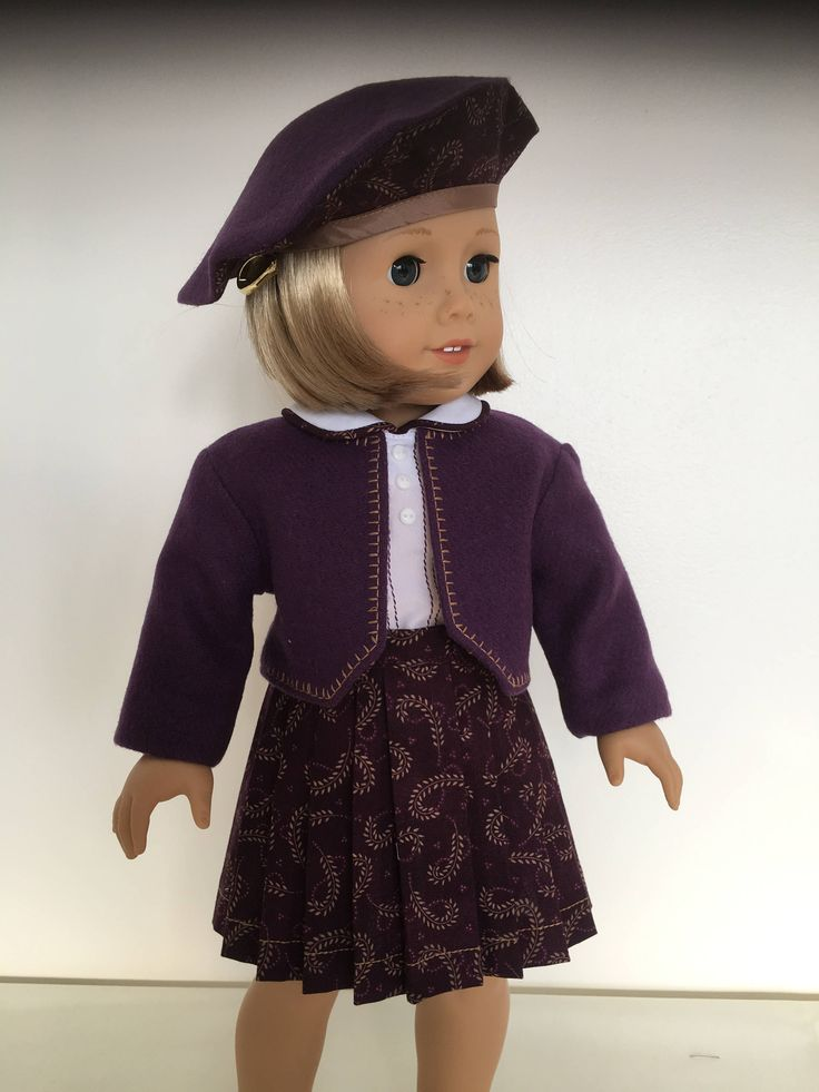 At The Train Station With Beret fits American girl dolls by Bekysdollclothes on Etsy