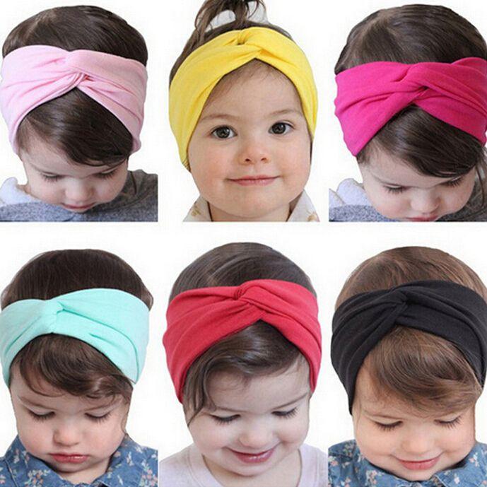 Pasgeboren Knoop Elastische Ring Hoofdband Kids Katoen Haaraccessoires elastische Haarbanden T12
