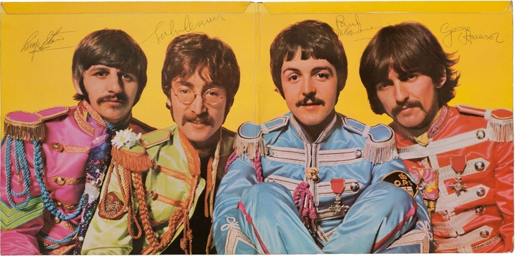 Signed Sgt. Pepper album cover
