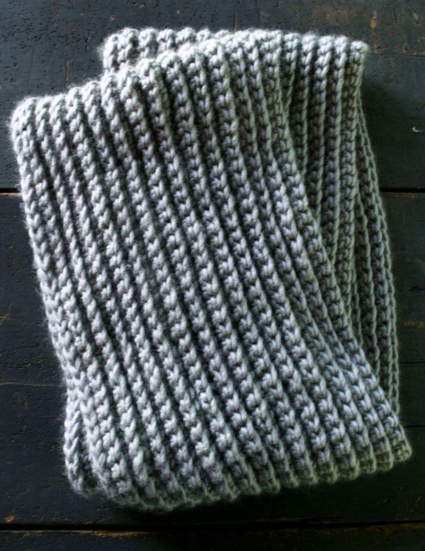Crochet rib stitch