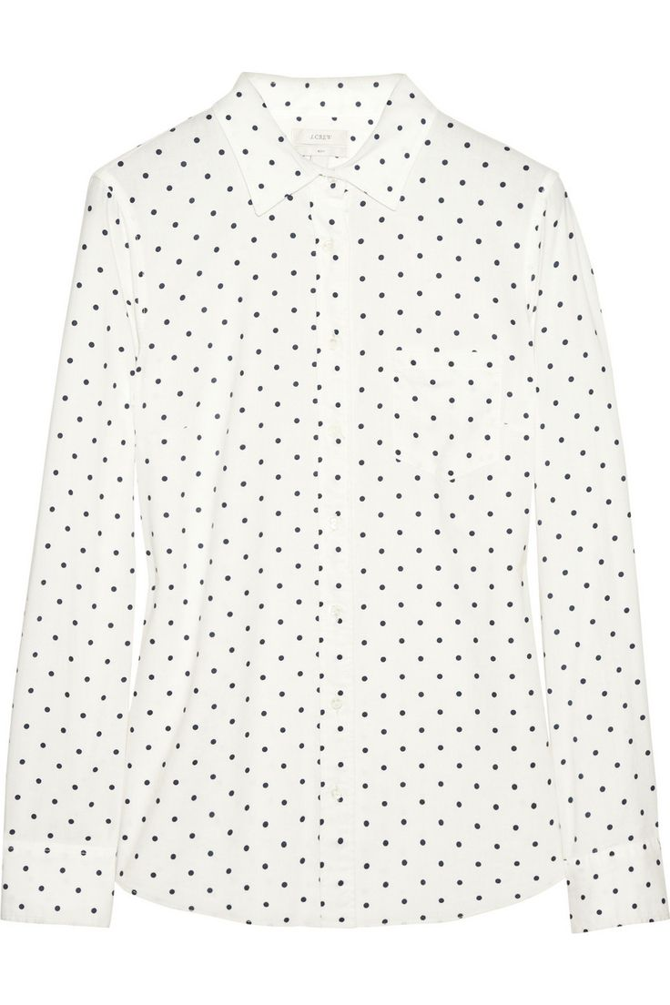 J.Crew | New Boy polka-dot cotton shirt | NET-A-PORTER.COM: J Crew New Boys, Work Girls, J Crew Polka Dots Cotton, Cotton Shirts Net A Porter Com, Boys Polka Dots