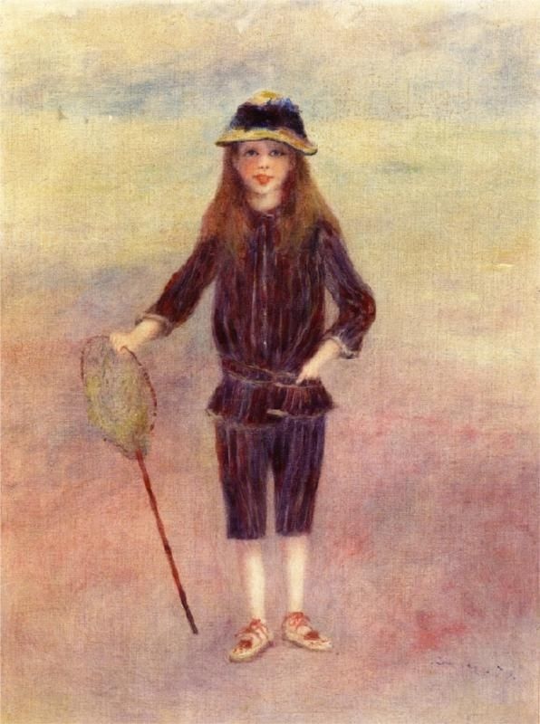 Pierre-Auguste Renoir (French 1841–1919) [Impressionism] The Little Fishergirl, 1879. Private Collection.