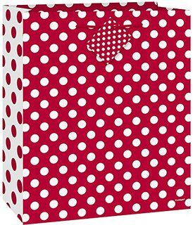 Medium Red Polka Dot Gift Bag