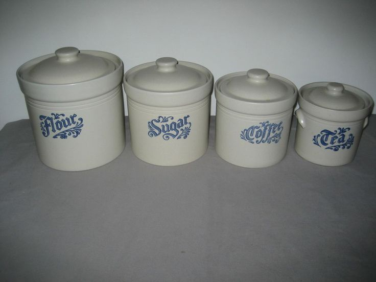 PFALTZGRAFF YORKTOWNE 4pc CANISTER SET Flour, Sugar ...