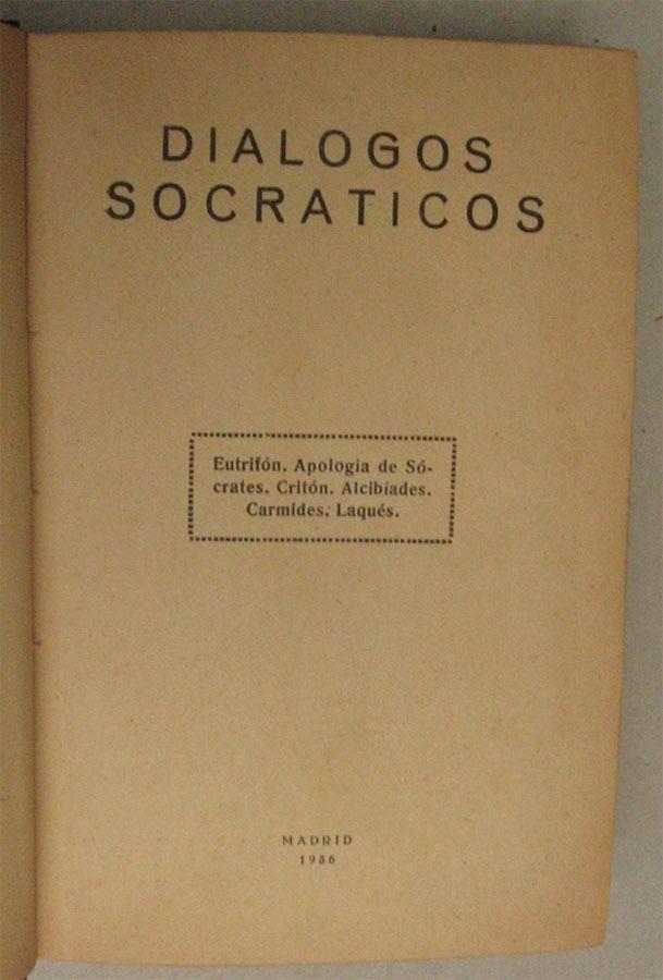 LosDiálogos de Sócrates son un género en prosa literaria desarrollado en laAntigua Greciaa finales delsiglo IVa.C.y que fueron preservados en losdiálogos platónicosy laobra socráticadeJenofonte- tanto dramática como narrativa - en las cuales los personajes discuten problemasmoralesyfilosóficospara ilustrar elmétodo socrático.Sócrateses el personaje principal.