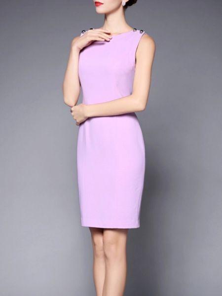 Paneled Polyester #Mini #dress  #stylewe