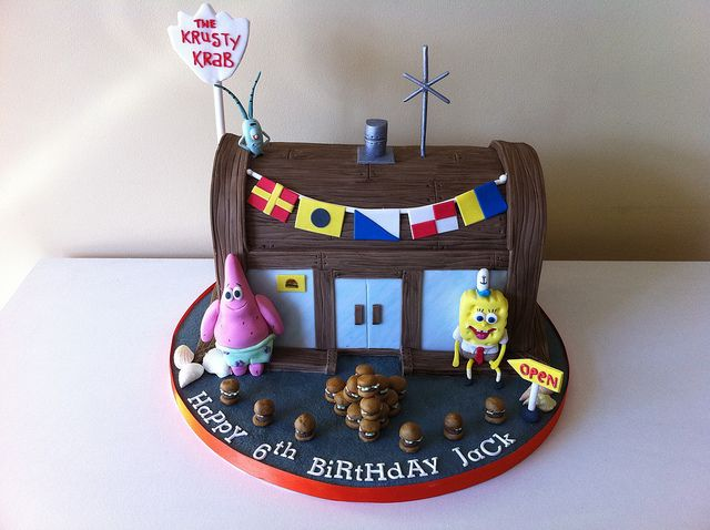 The Krusty Krab cake by Cakes by Lea, via Flickr