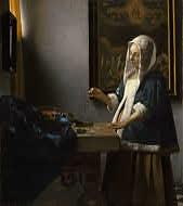Johannes Vermeer. Dutch, 1632 - 1675  Woman Holding a Balance, c. 1664  oil on canvas. National Gallery of Art. Washington DC. USA
