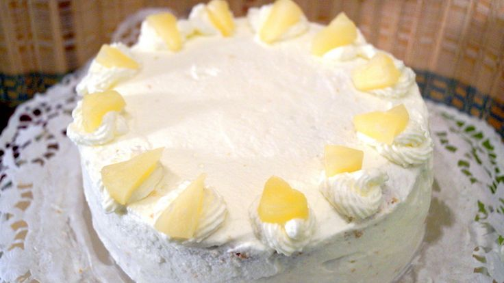 A very tasty and creamy cake with the pineapple chunks in the middle would make…