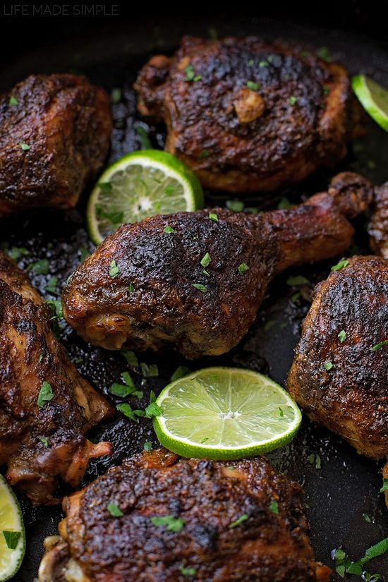 do-not-touch-my-food:  Oven Baked Jerk Chicken