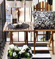 Un petit balcon comme une salle à manger d'extérieur - Marie Claire Maison