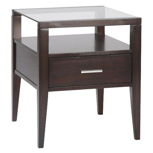 baker end table with drawer by belfort select