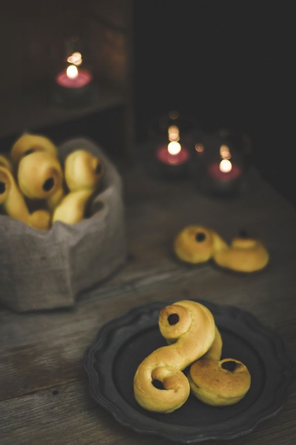 December 13th is Saint Lucia Day in Sweden. These are Lucia buns!