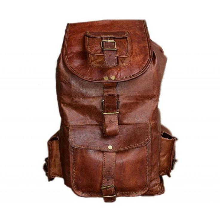 "PLH7 VINTAGE SILO™ Leather backpack. Handmade 16"""