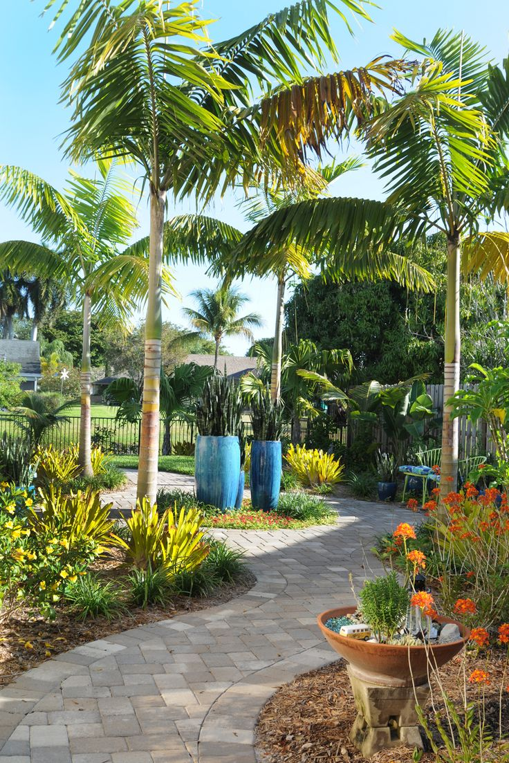 Spectacular Boca Raton Tropical Landscape Designed By Pamela Crawford. Her  Services Include Landscape Design And Installation, Pottery, Outdoor  Furniture, ... Part 73