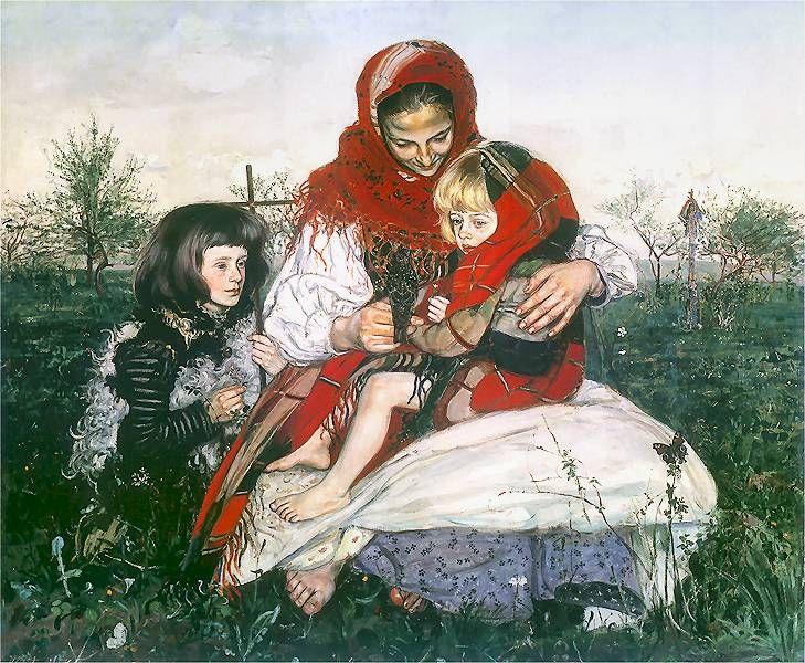 Vlastimil Hofman - Madonna z Dzieciątkiem i św. Janem, 1909