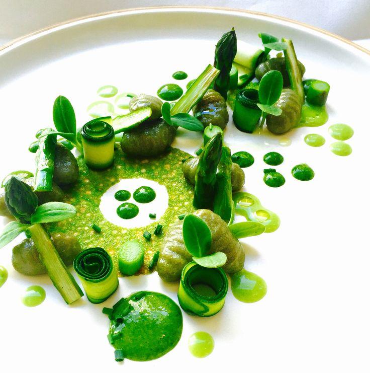 Spinach Gnocchi, Zucchini, Asparagus, Borage, Ramson