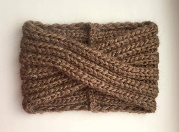 Gestricktes Stirnband-Alpaca Turban-Wool Stirnband-Bandeau laine-Wide Stirnbänder für Damen-Damen Stirnband-Winter Stirnband-Stirnband-Wollen Haarband