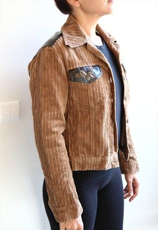 Toi+&+Moi+Brown+Jacket.+Made+in+Italy