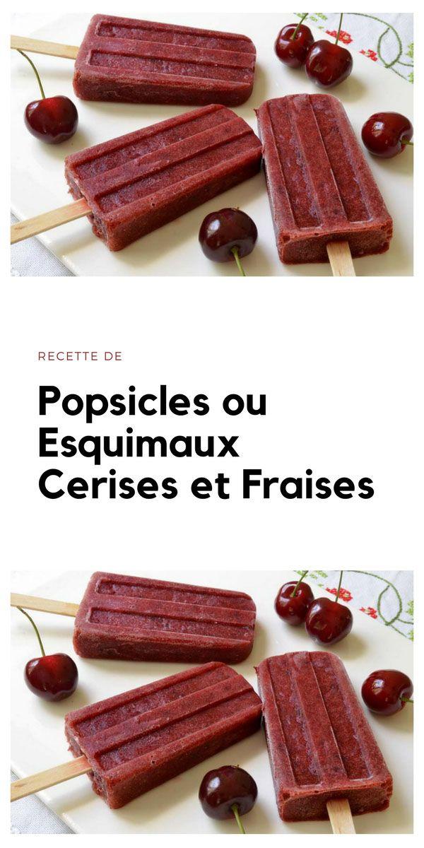 #popsicles #esquimaux #cerise #fraise