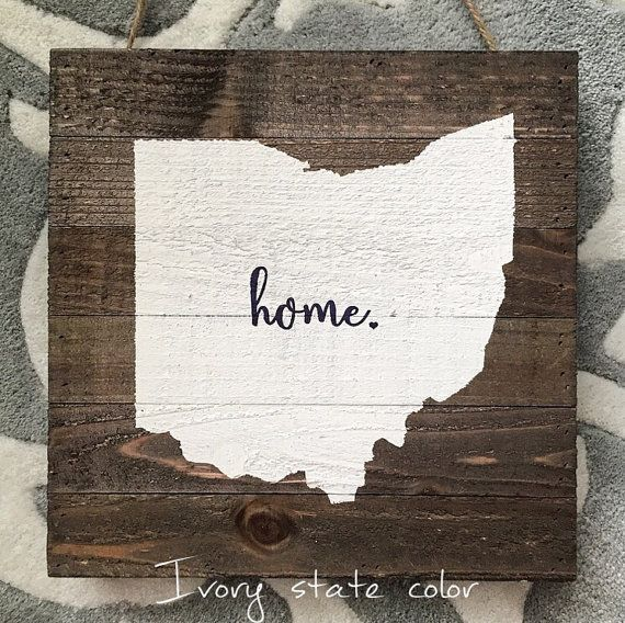 Ohio State home rustic wood plank pallet sign by CoastalCraftyMama