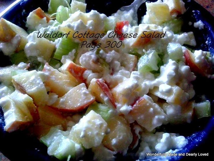 Trim Healthy Mama Waldorf Cottage Cheese Salad