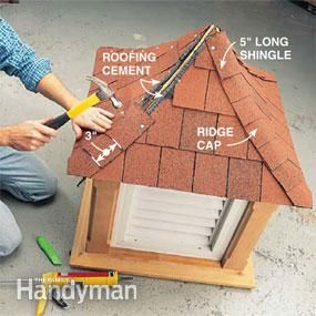 One or two cupolas?  Above doors or down halls?  Over ceiling vent?  Weather vain on top.