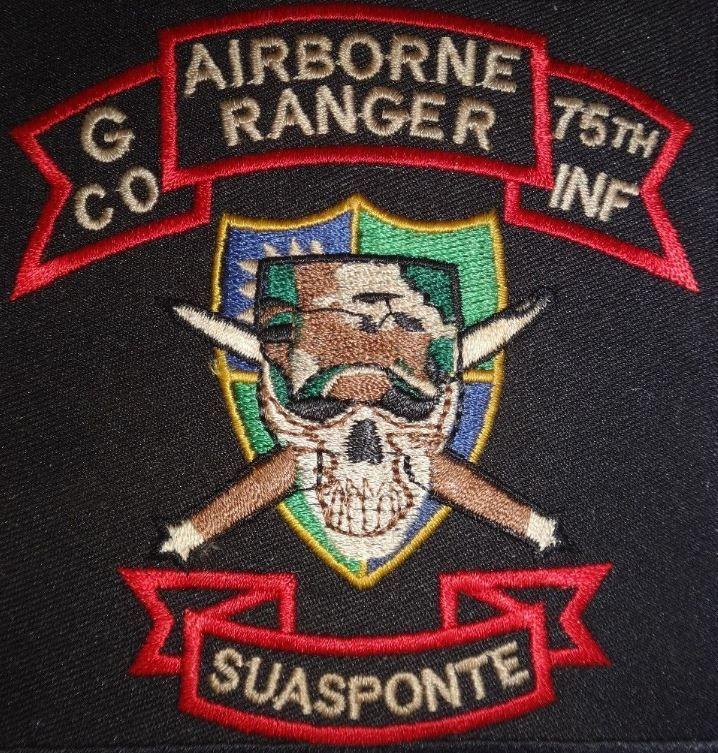 G Company 75th Infantry Rgt AIRBORNE RANGER 23rd Infantry Div. Vietnam War Patch