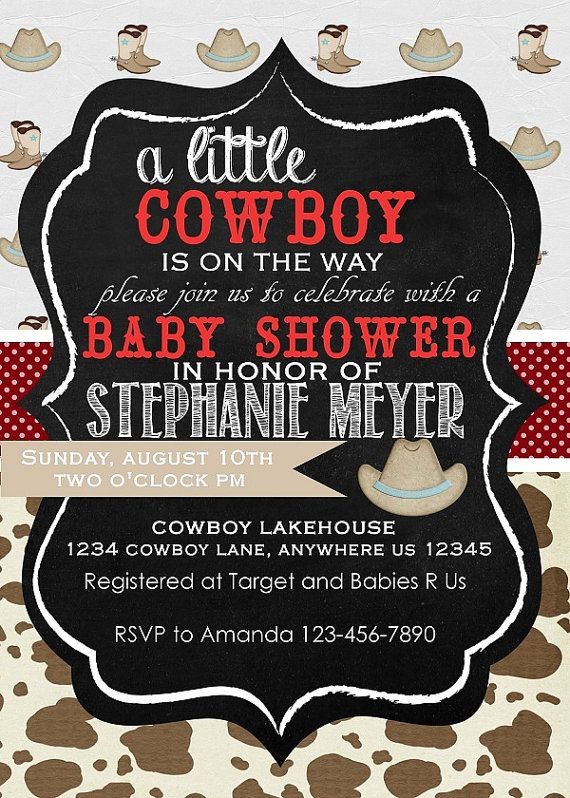 sprinkle or baby shower invitations print your own cowboy baby shower