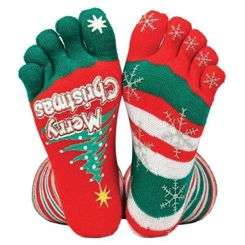 Cozy Striped Toe Socks | 12 Wacky Socks For The Christmas Enthusiast