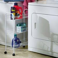 -- Small Laundry room Storage, I seen these at dollarama the other day, I think I will go back and buy one today to finally organize my laundry room.