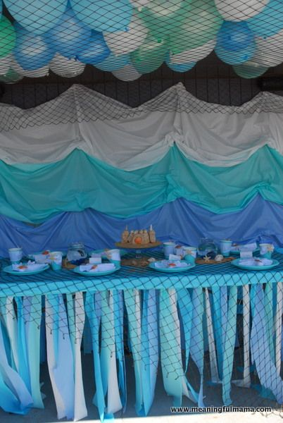 A Mermaid Party Tablecloths Streamers And Parties