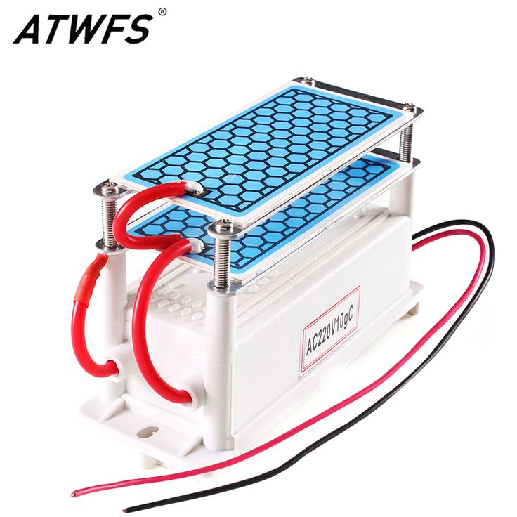 ATWFS Portable Ceramic Ozone Generator 220V/110V 10g Double Integrated Long Life Ceramic Plate Ozonizer Air Water Air Purifier  Price: 22.16 USD