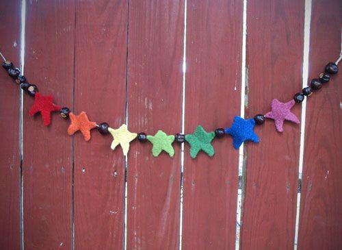 star garlandKnitting Pattern