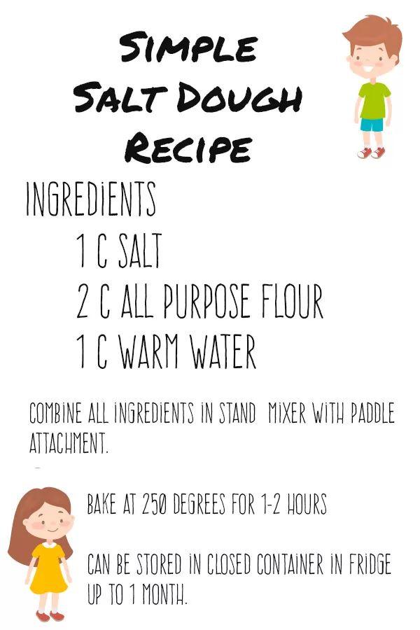 Simple and Fun salt dough recipe #craftsforkids #eastercrafts #saltdough #homeschoolcrafts